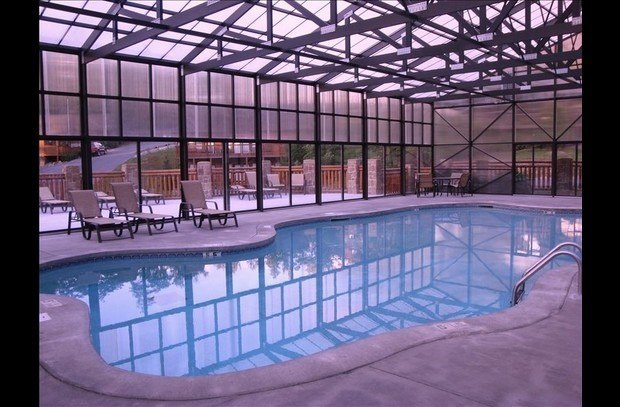 Beautiful indoor covered heated pool--open year round