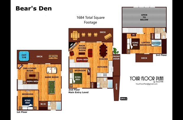 1684 Toal Square Footage