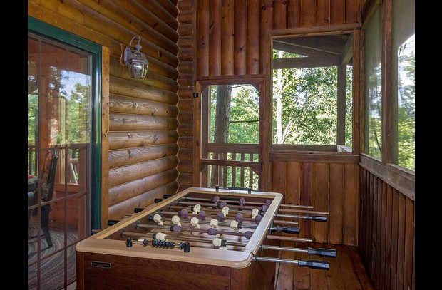 Foozeball ..Built in screen porch