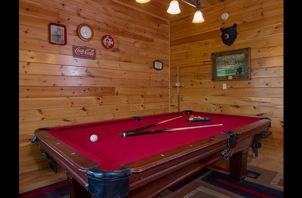Pool Table Located in Gameroom